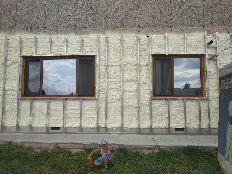 брусовой дом утепление напылением фото